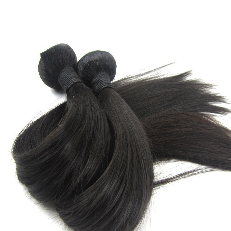 Factory wholesale price double drawn virgin Indian hair original straight 100% human hair bundles 10