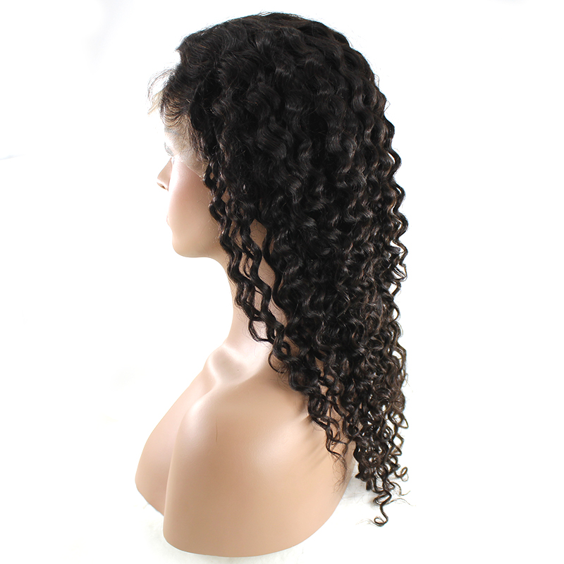 2020  Virgin Human Hair Wigs Natural Black Curly Wigs 10-22 Inch Weaving Wholesale Price 10