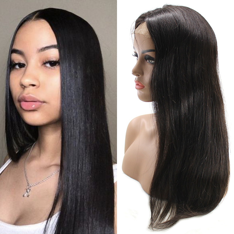 Black Friday Sales Free Shipping Straight 360 Lace Wig / Lace Frontal Wig / Full Lace Wigs Unprocessed Human Virgin Hair 14