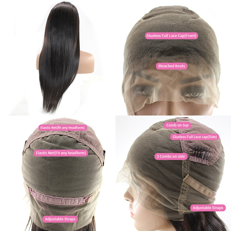 Lace Frontal Wig Brazilian Straight Human Hair Lace Front Wigs Pre Plucked With Baby Hair 8