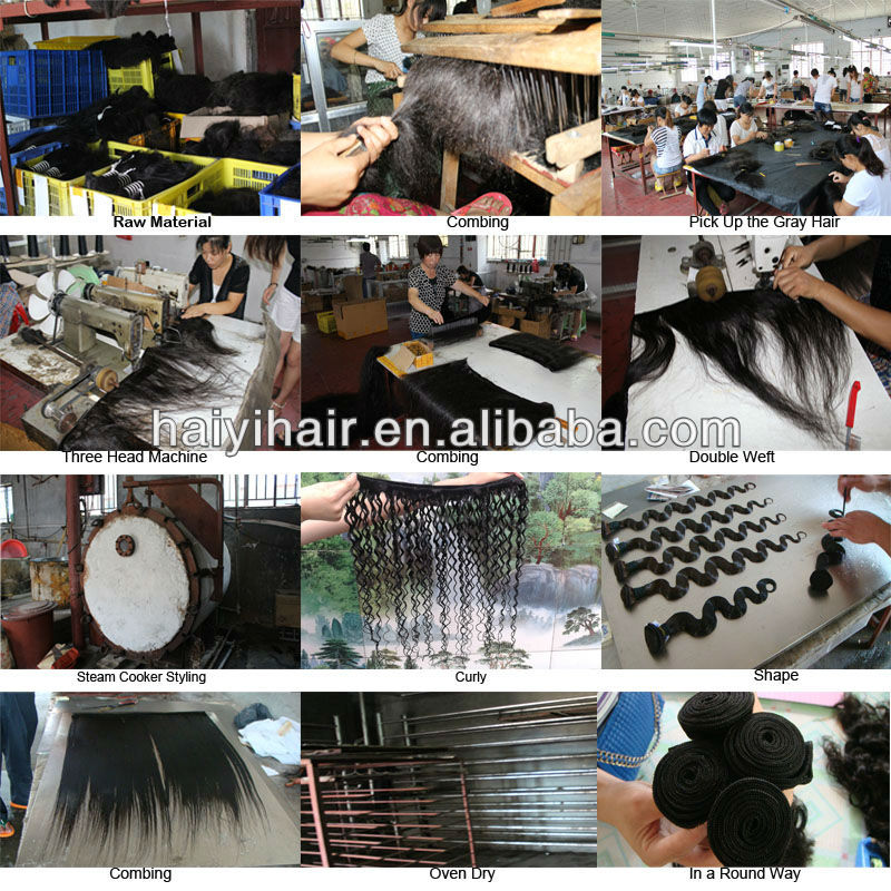 Top quality cheap unprocessed remy virgin hair 100 raw indian temple hair 19