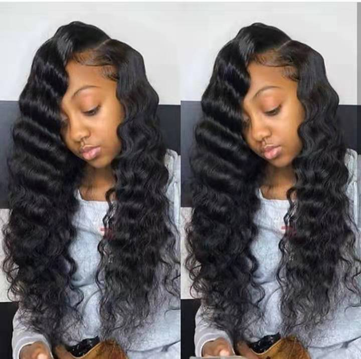 Cheap Pre Plucked Thick Ends Brazilian Virgin Cuticle Aligned HD Frontal Lace Body Wave Human Hair Wig 18