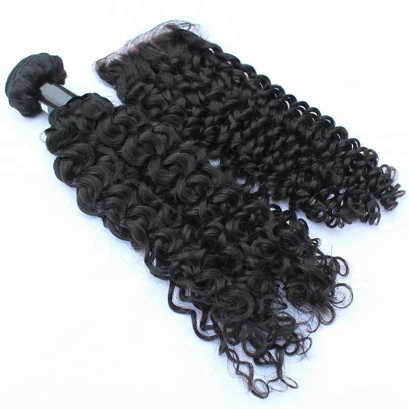 Flash Deal Curly Human Hair Extensions 100% Double Weft Mink Hair 10-30 Inch Weaving 9