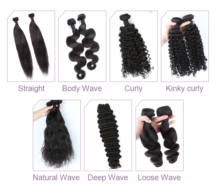Factory Wholesale Natural Color Wigs Pre Plucked Chinese Human Hair Natural Wave Full Lace Wig 15