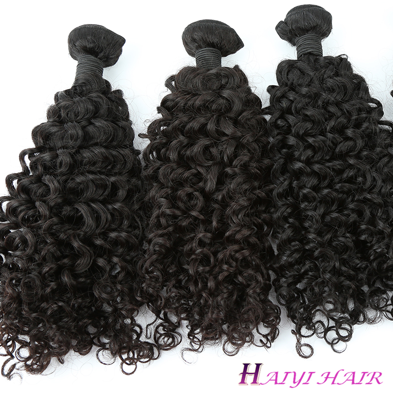Unprocessed Virgin Hair Vendors Raw Indian Curly Human Hair Extensions 10