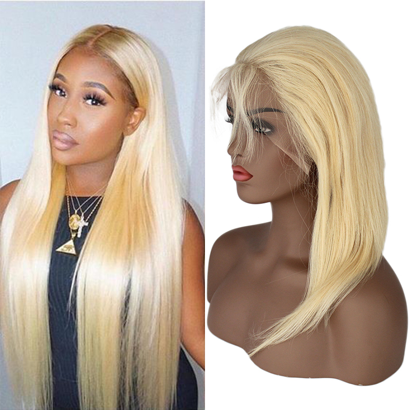 High Brazilian Human Hair 613 Full Lace Wig With Baby Hair 7