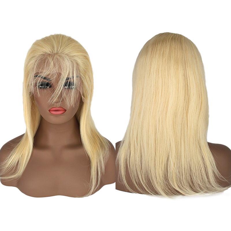 High Brazilian Human Hair 613 Full Lace Wig With Baby Hair 15