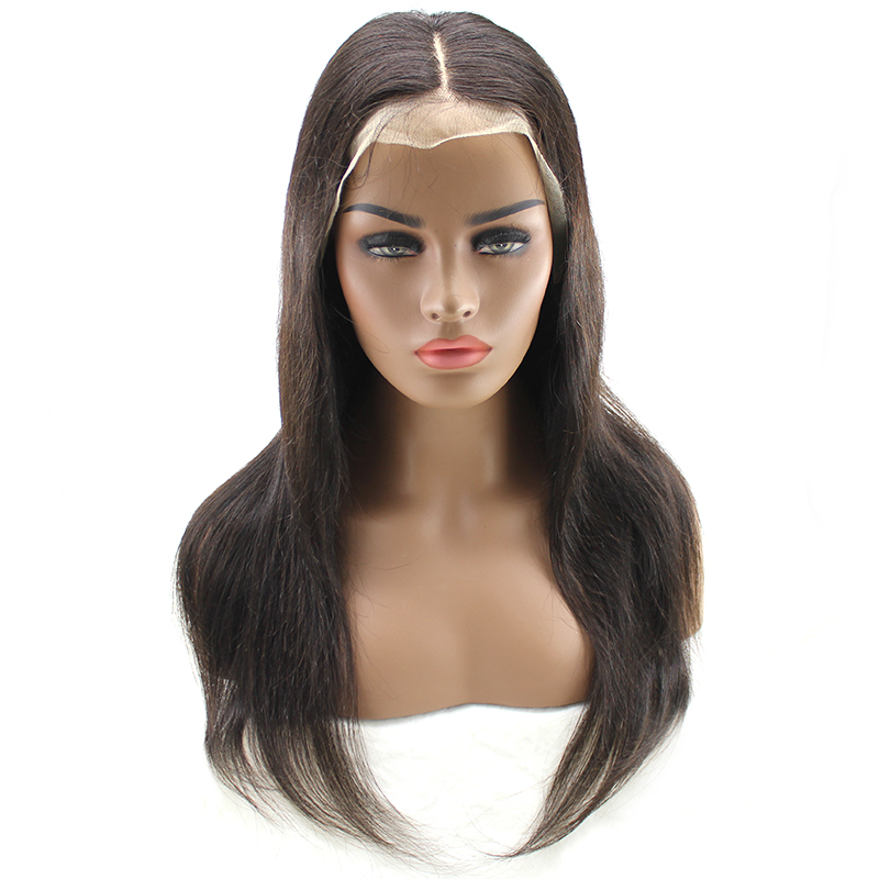 High Quality Black Women Brazilian Human Hair Wig Straight Full Lace Wig 10