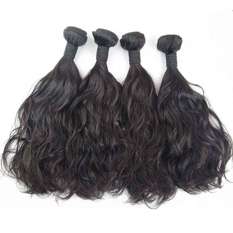 Water wave Indian Hair Vendors natural color 10A remy hair 8