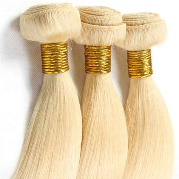 Factory 11A Double Weft Extensions Brazilian Straight Hair Bundle 100g/pc Blonde Color Extensions 10-30 inch 10