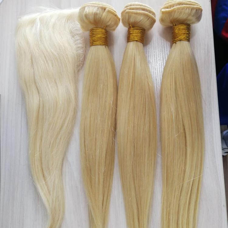 Wholesale Straight Indian Virgin Hair Extensions 100% Human Hair Weaving Blonde 613 Hair Bundles 11