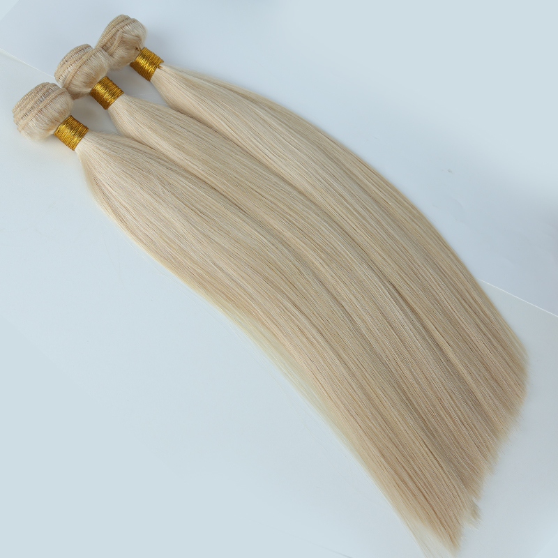 100% virgin Eurasian remy temple bundle hair Cuticle Aligned Human Hair Extensions 9