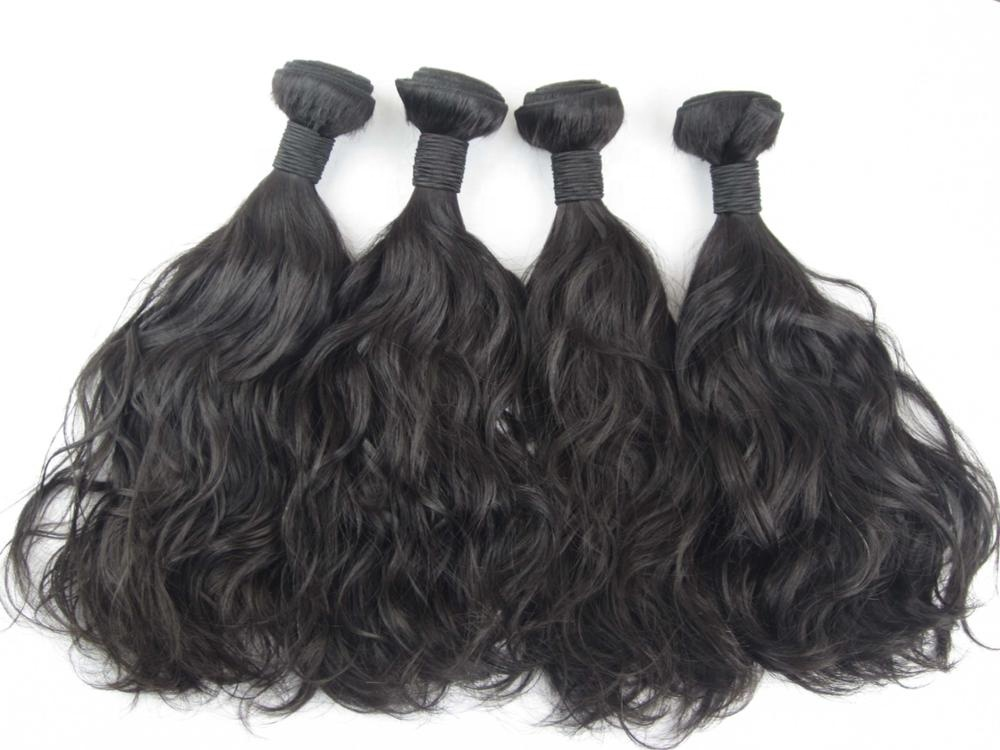 Human Hair virgin cuticle aligned hair 10A Grade Natural Wave Human Hair Bundles 14