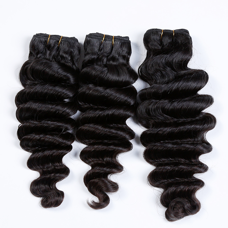 raw Deep wave hair bundles Unprocessed Manufacture weave bundle Human hair cuticle aligned 10