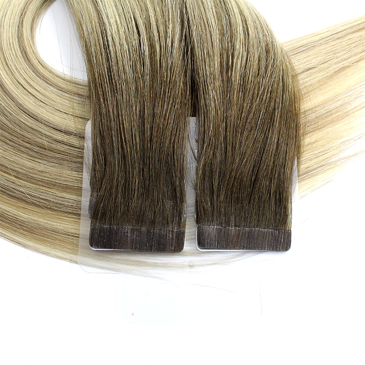 Piano Colors Double Drawn Cuticle Aligned Tape In Human Hair Extensions 13
