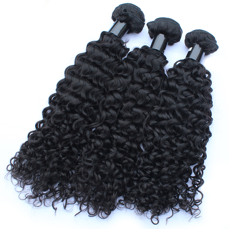 Free Shedding No Tangled Hair Bundles Virgin Unprocessed Human Hair Weave Curly Hair 10