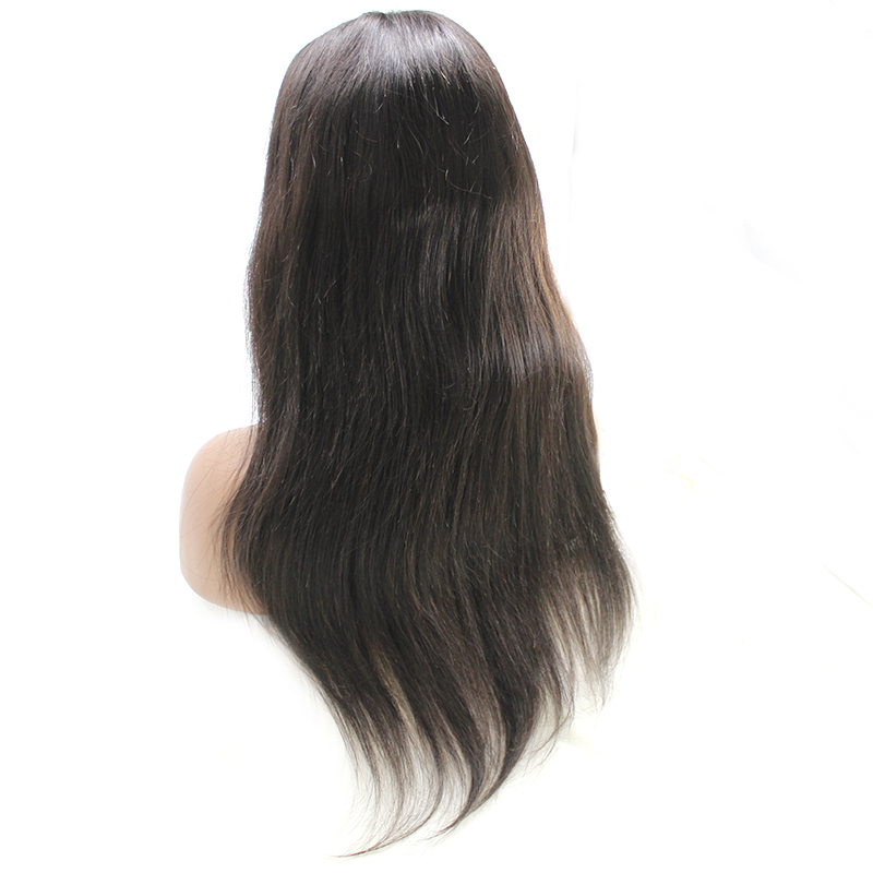 2020 Lace Wigs  Straight Hair Brazilian Natural Black Color Lace Frontal Wigs 10-22 Inch 9