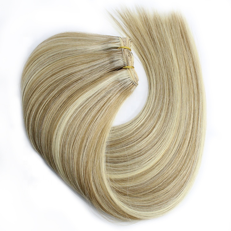 Hair Manufacturer Cuticle Aligned Hair Double Drawn Weft Human Hair Weft 613 Thicker Ends 13