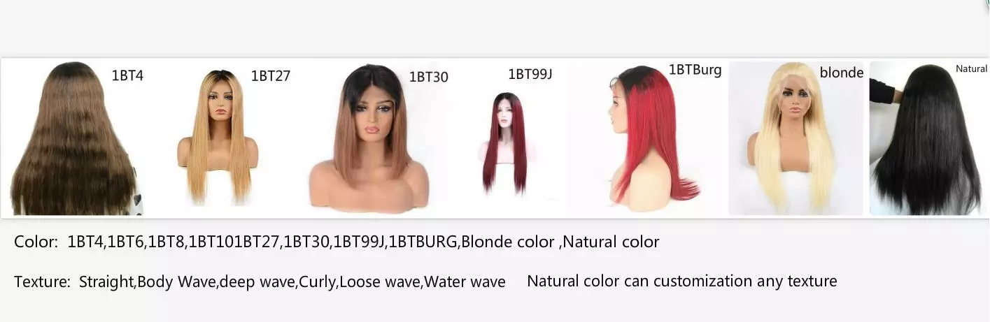 Transparent hd swiss lace 13x6 Lace Frontal Wigs Pre plucked Indian Curly Human Hair Lace Front Wig 17