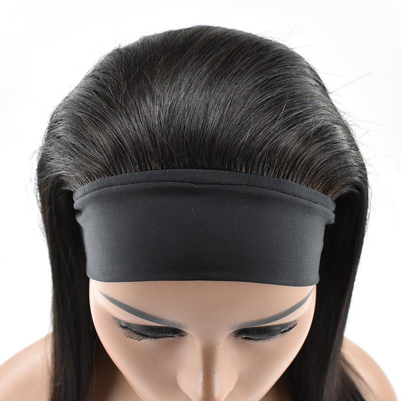 Wholesale Silky Straight Head Band Virgin Cuticle Aligned Brazilian Human Hair Wig  For Black Women 10
