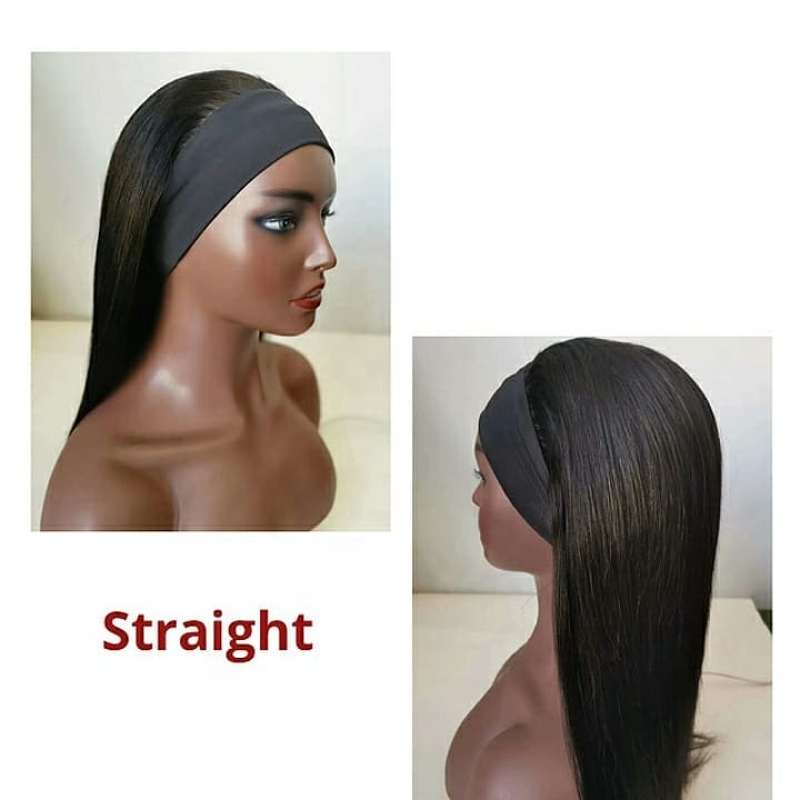 Wholesale Silky Straight Head Band Virgin Cuticle Aligned Brazilian Human Hair Wig  For Black Women 15