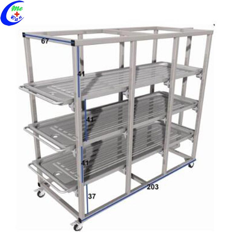 304 Stainless Steel Hospital Mortuary Cadaver Storage Rack 2