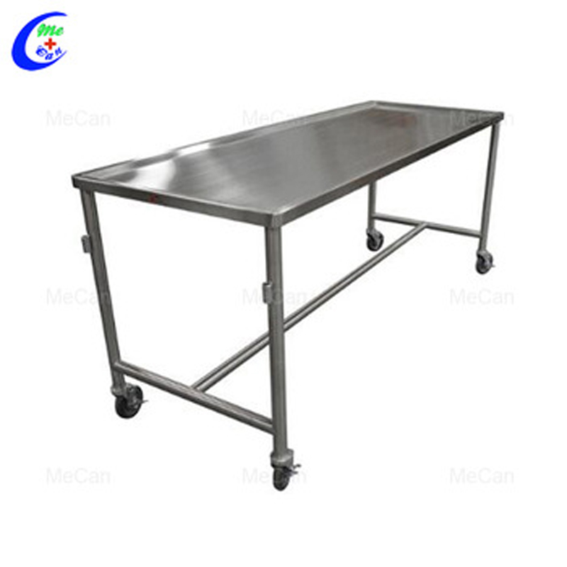 Morgue Equipments Hospital Body Stainless Steel Autopsy Cleaning Table 2