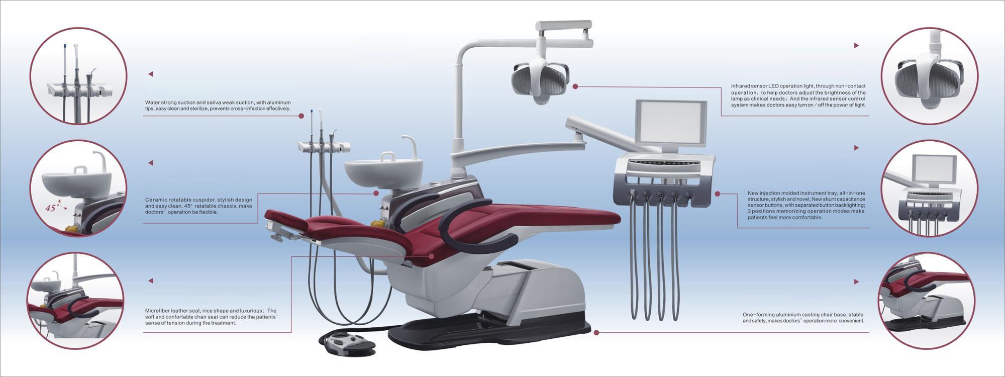 Standard Size Electric Dental Chair Equipment 2