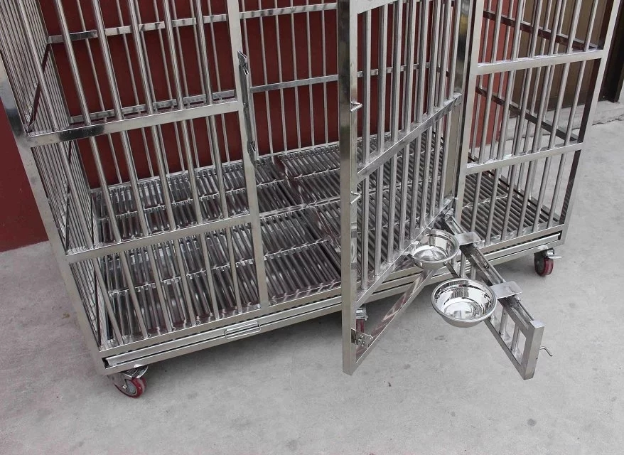 Vet Clinic Stainless Steel Pet Animal Cage 6