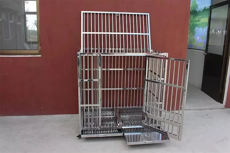 Vet Clinic Stainless Steel Pet Animal Cage 4