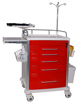 Rescue room, intensive care unit: rescue trolley/ emergency trolley  6
