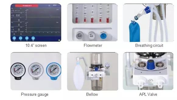 Surgical Anestesia Machine Anesthesia Breathing Apparatus