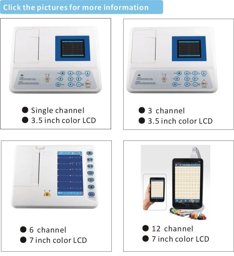 China Digital 6 Channel ECG Machine