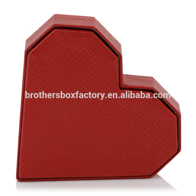 Special Paper Empty Heart Shaped Cardboard Packaging Gift Box With Lid 7