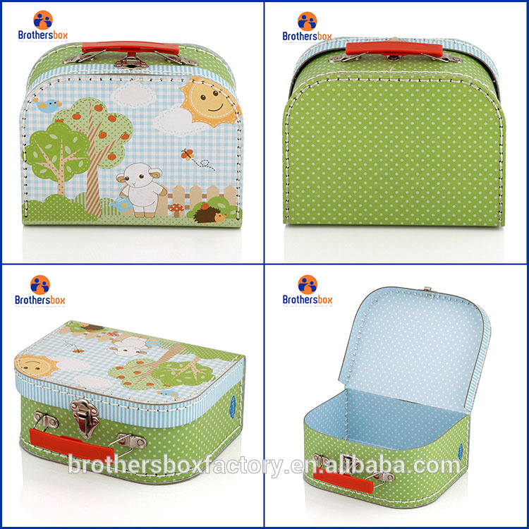 Paper Material and Accept Custom Order paper suitcase box mini suitcases wholesale 9