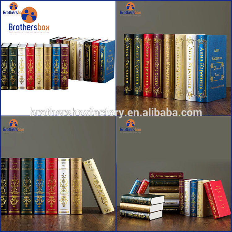 China Manufacturer Custom Logo gift boxes Decorative Fake Book Shape Paper Box 7