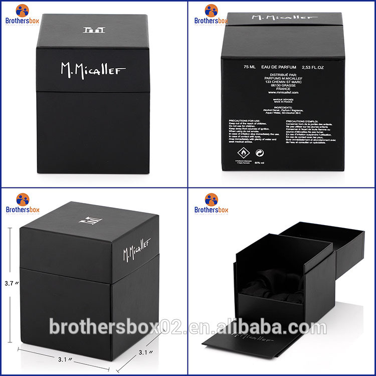 Handmade black magnetic gift boxes wholesale 7