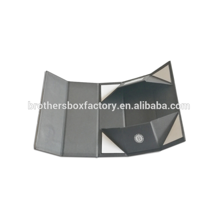 Luxury Custom Flat Black Magnetic Folding Storage Rigid Carton Paper Gift Box Packaging Board 7