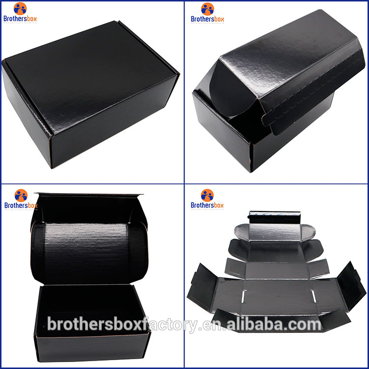 brown white blue foldable carton shipping mail box black corrugated mailer box 7