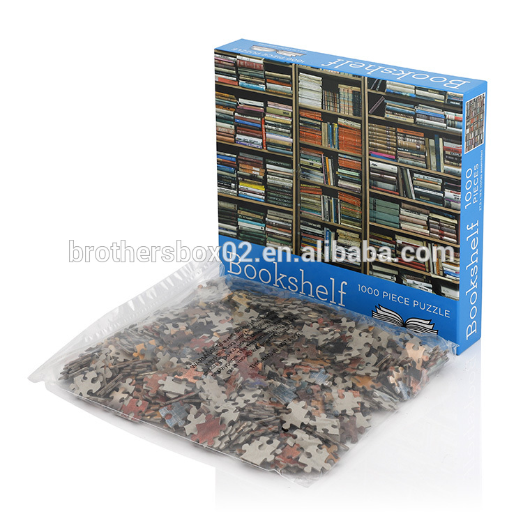 custom cardboard children adult jigsaw puzzle 100 150 200 500 1000 pieces Paper Custom Jigsaw Puzzles 8