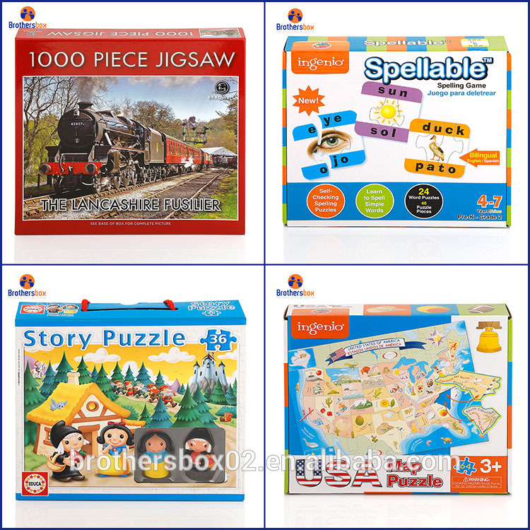 china supplier toys paper jigsaw puzzles 2