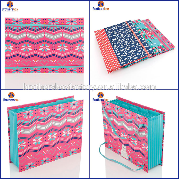 Popular top quality CMYK color a4 portfolio paper file folder 9
