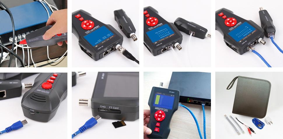 Hot 3.7V Lc/sc/fc/st Fiber Optic Cable Tester for Troubleshooting 3.7V NOYAFA Brand 5