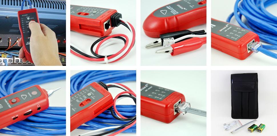 Quality NOYAFA Brand LED Flash and Loud Speaker Tone Generator Probe Kit 5