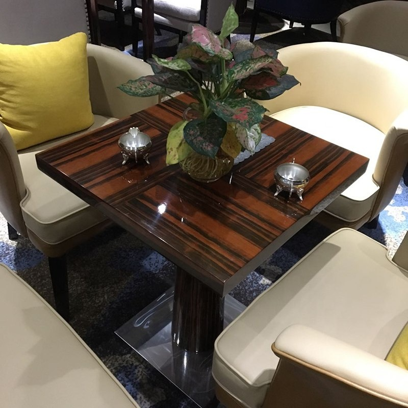 HS-NR299 Custom made solid wood new design wholesale cheap used hotel restaurant furniture table 11