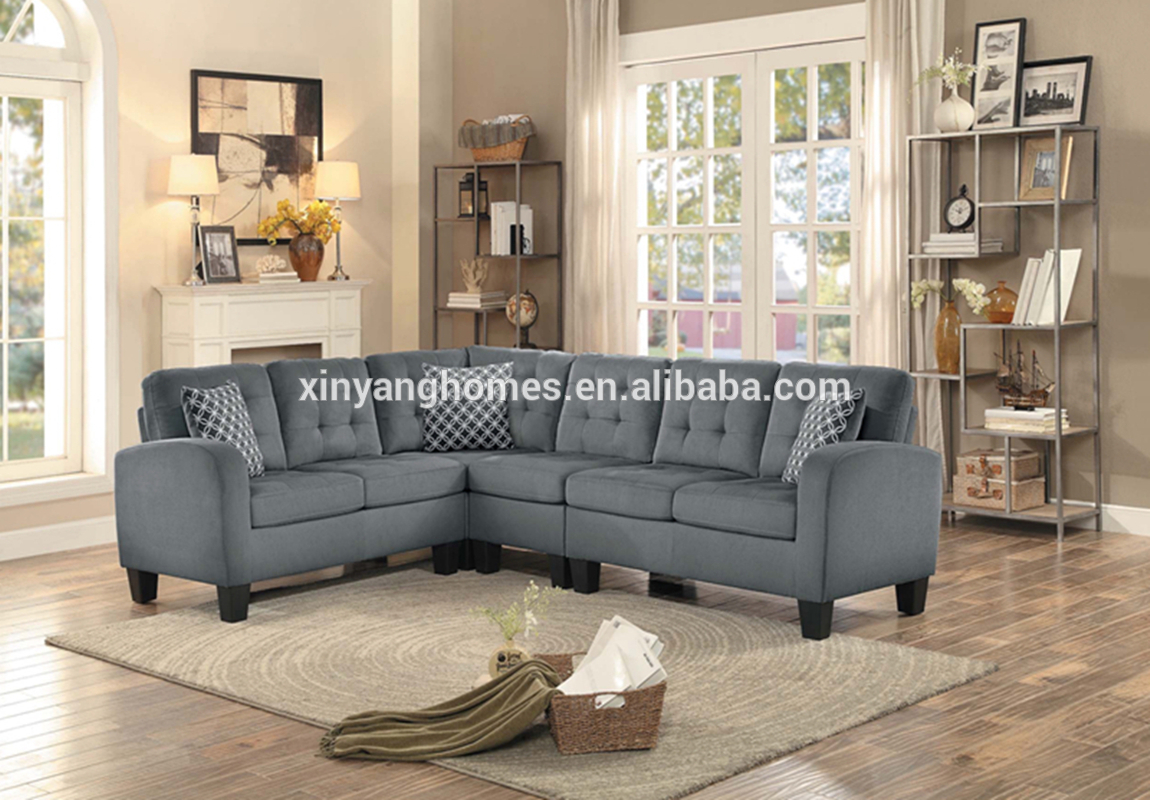 Living room linen reclner sofa set furniture loveseat and sofa 11